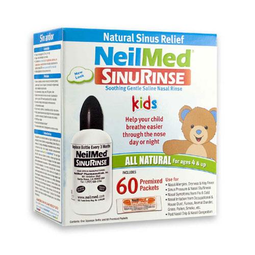 Preplach nosa Sinus Rinse Kids, fľaša + 60 sáčkov - NeilMed