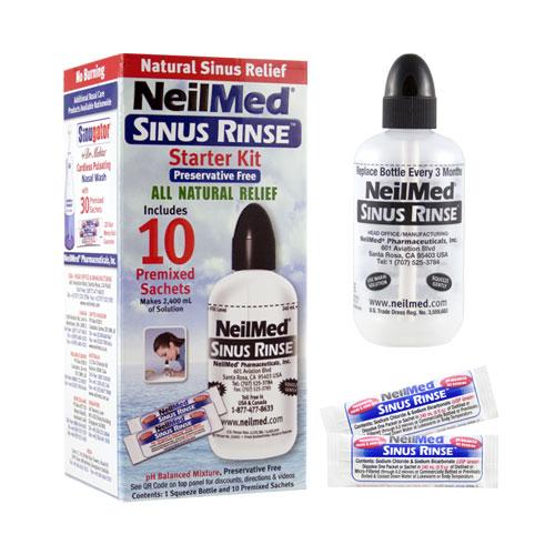 Proplach nosu Sinus Rinse, Izotonický, láhev + 10 sáčků - NeilMed